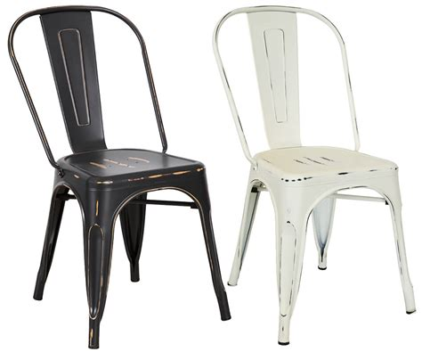 bentley home metal distressed dining chairs