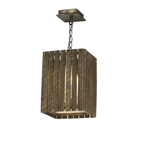 rustic gold cocoa wooden look ceiling pendant made