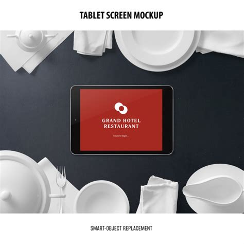 More great & free psd mockups collection available format: Tablet screen mockup | Free PSD File