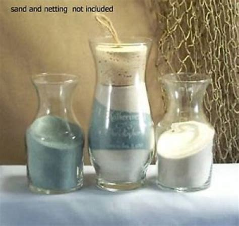 wedding unity sand ceremony personalized sonora with side vases ebay