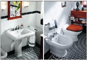 Vintage Black And White Bathroom Ideas Black And White Ceramic Tile Home Garden Design