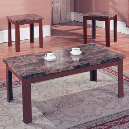 Due to increased demand and shipping delays, you may experience longer wait times to receive merchandise. Home Source Brown Marble Coffee Table Set - Walmart.com
