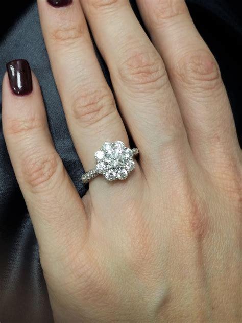 wedding rings shaped like flower beautiful flower shaped diamond ring