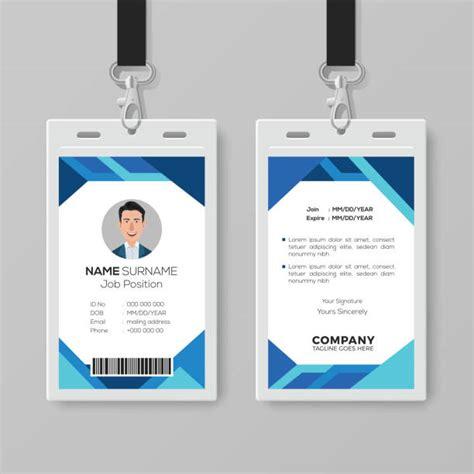 royalty  employee id card template clip art vector