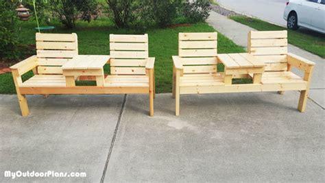diy double bench myoutdoorplans  woodworking plans