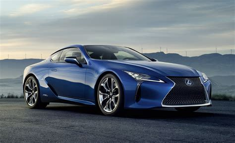 lexus lc  geneva debut  hybrid performance coupe