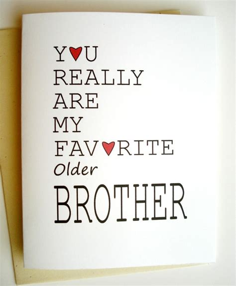 Sample Birthday Cards For Older Brother Saying Wording