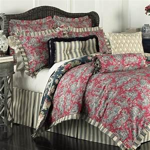 Waverly, Sanctuary, Rose, 4, Piece, Reversible, Bedding, Set