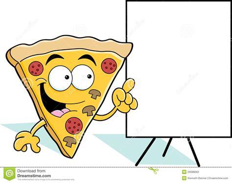 Apontar Da Fatia Da Pizza Dos Desenhos Animados Fotografia