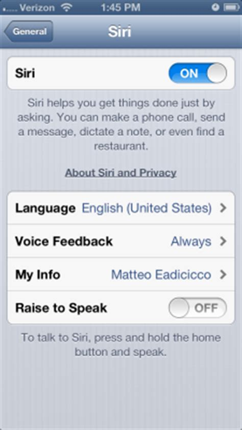 how to turn voice on iphone 5 how to disable siri raise to speak on your iphone 5