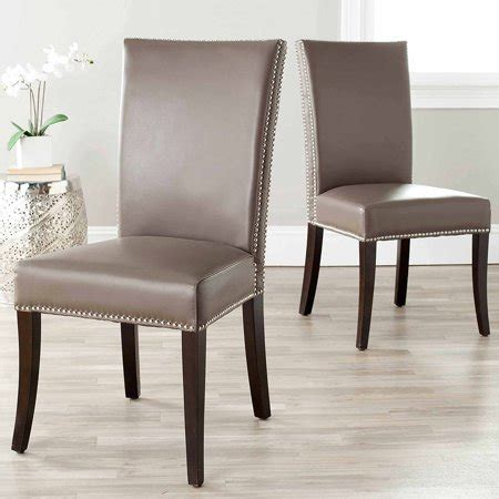 safavieh leather dining chairs safavieh bicast leather brewster leather dining side chair