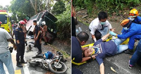Man Dies After Two Buses And One Motorcycle Crash In
