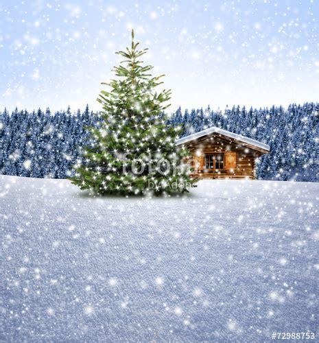 quot schih 252 tte mit weihnachtsbaum bei schnee quot stockfotos und