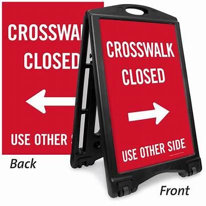 Sign Side Sidewalk Closed Roll Signs 1224