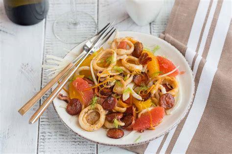 fenouil cuisine salade d 39 encornets aux agrumes et fenouil cuisine addict