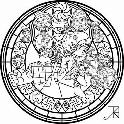 Coloring Disney Pages Stained Glass Mandala Vanellope