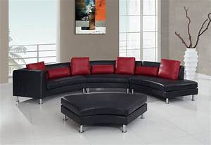 25 contemporary curved and round sectional sofas With red round sectional sofa