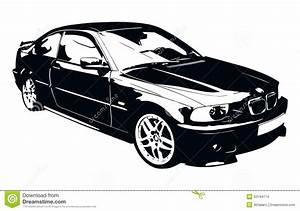 BMW Black and White Car stock vector. Image of europe ...