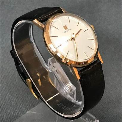 Zenith Gold Watches 9ct Wristwatch Antiques Jewellery