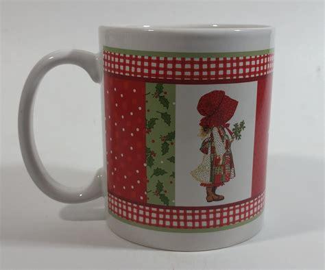 Vintage stoneware hand thrown pottery coffee mug handmade ceramic coffee cup set. 2006 TCFC Holly Hobbie Christmas Themed Ceramic Coffee Mug | Holly hobbie christmas, Holly ...