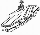 Carrier Aircraft Navy Coloring Drawing Clipart Naval Nimitz Sketch Battleship Class Printable Ship Easy Airplane Craft Colouring Army Vehicles Thecolor sketch template