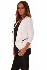 Blazer Femme Noir : blazer blanc femme ~ Preciouscoupons.com Idées de Décoration
