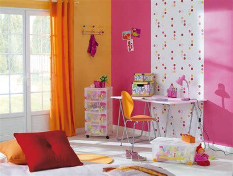 deco chambre fille papier peint visuel 1