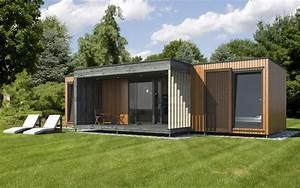 Maison Modulaire Bois : micro maison pr fabriqu e modulaire contemporaine ~ Melissatoandfro.com Idées de Décoration