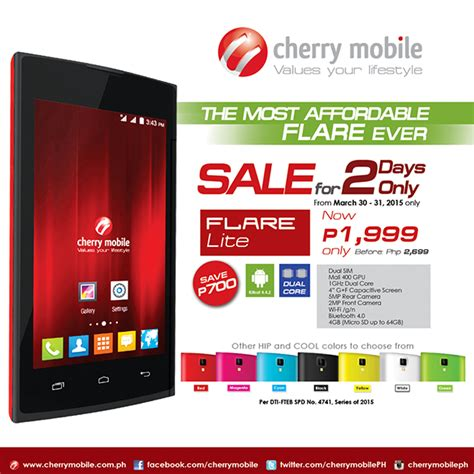 cherry mobile flare lite   price drop   php