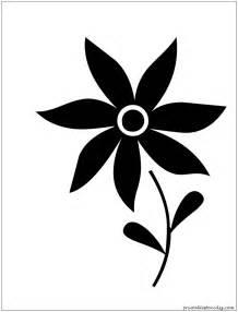 Simple Flower Stencil