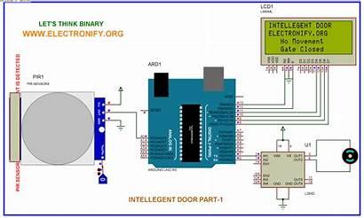 Arduino Uno Door System Automatic Counter Schematic