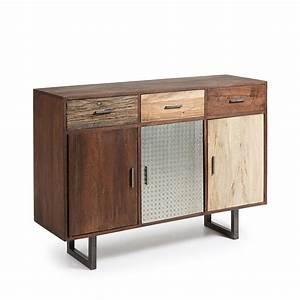 Buffet Metal Et Bois : buffet design bois de r cup et m tal liam by drawer ~ Melissatoandfro.com Idées de Décoration