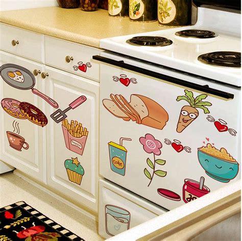 creative kitchen accessories refrigerator sticker fried egg doughnut 3016