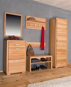 Garderoben Set Massivholz : garderoben set genf iii kernbuche massivholz ge lt gewachst 6 teilig ~ Whattoseeinmadrid.com Haus und Dekorationen