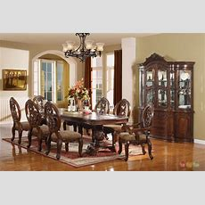 Wyndham Traditional Cherry 9 Pc Formal Dining Room