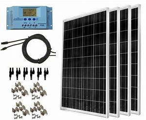 400 Watt 12 or 24 Volt Solar Panel Complete Kit for RV's ...