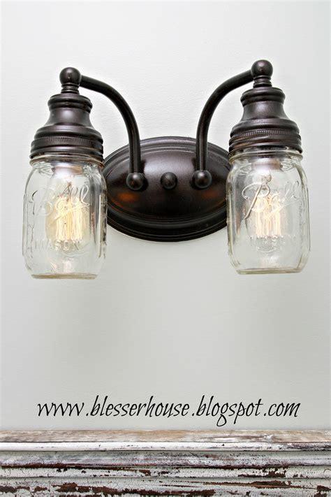 diy mason jar vanity light blesser house