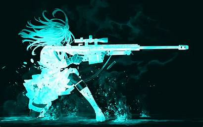 Backgrounds Anime Cool Wallpapers Desktop Computer Gun