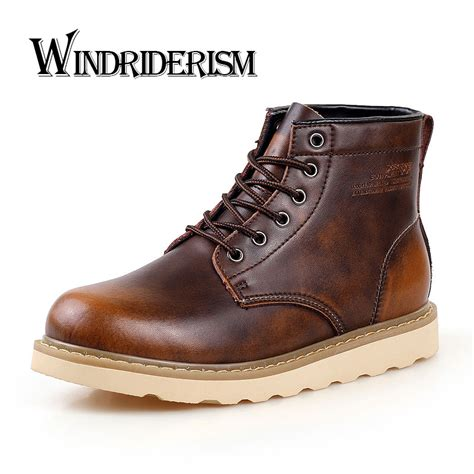 Windriderism New Fashion Men Martin Boots