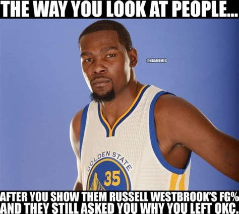 Kevin Durant Memes - kevin durant russell westbrook memes best funny memes heavy com