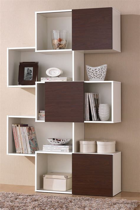 Modern Bookshelf by Modern Bookshelf With Sliding Doors Cool Products And