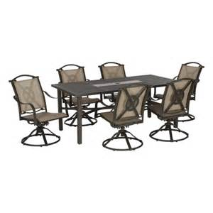 living accents 7 swivel patio dining set all patio collections ace hardware