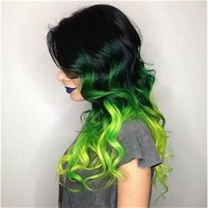 Black to neon green ombre hair Hair Colors Ideas