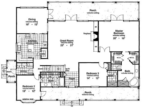 bedroom floor family home plans  sq ft ranch homes interor house plans country