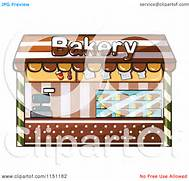 Clipart of a Bakery Sh...