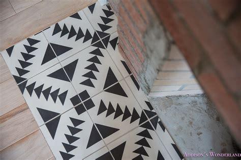 black aztec cement tile shop white addisons wonderland