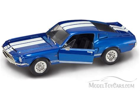 car toy blue yatming shelby mustang gt 500kr 1968 1 18 scale