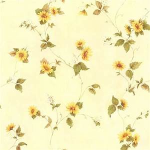 August Yellow Floral Trail Wallpaper-414-45177 - The Home ...