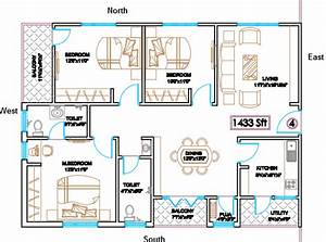 South West Bedroom Pooja Room Staircase T Junction