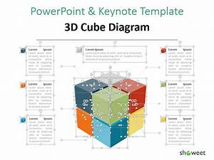 3d Cube Diagram For Powerpoint And Keynote